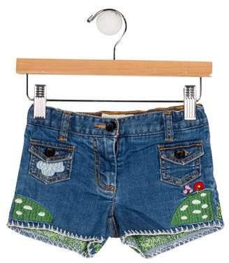 Stella McCartney Girls' Embroidered Shorts