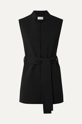 The Row Frieden Stretch-wool Vest - Black