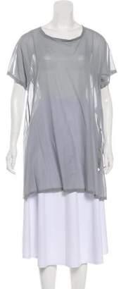 Issey Miyake Semi-Sheer Short Sleeve Tunic