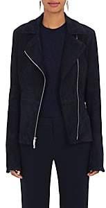 The Row Women's Paylee Suede Moto Jacket - Navy