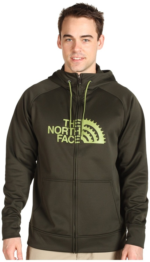 The North Face - Men's Chain Ring Hoodie (Fig Green/Grip Green) - Apparel