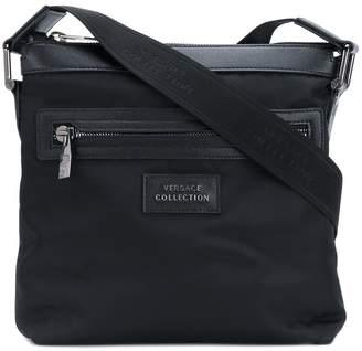 Versace logo detail shoulder bag