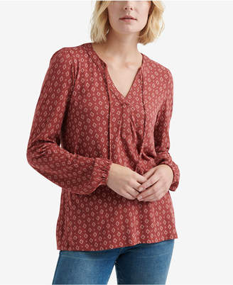 Lucky Brand Luck Brand Split-Neck Peasant Top