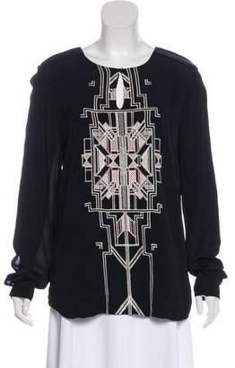 DAY Birger et Mikkelsen Long Sleeve Embroidered Top w/ Tags