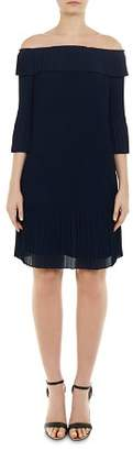 Ted Baker Franeis Off-the-Shoulder Pleated Dress