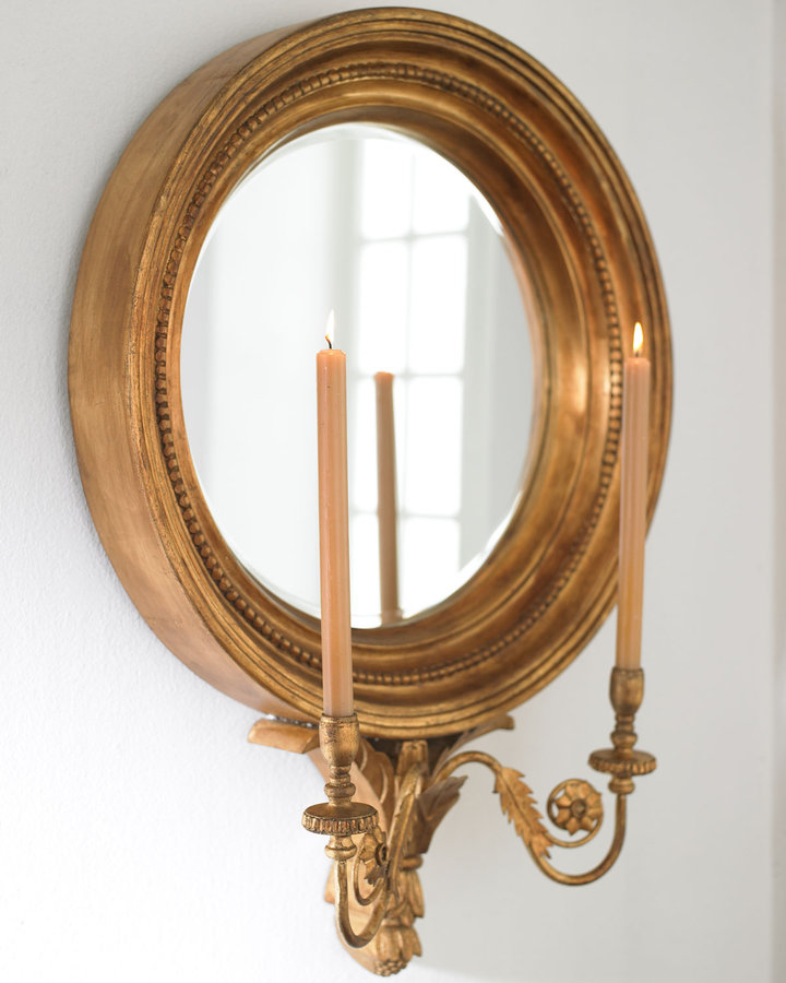 Horchow Mirrored Candle Sconce