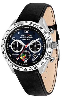 Sector Men's '695' Automatic Stainless Steel and Leather Sport Watch