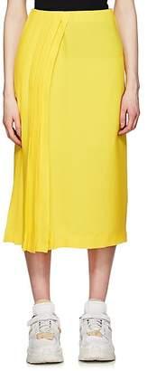 Maison Margiela Women's Pleated-Side Silk Crepe Skirt