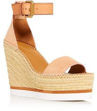 See by Chloe Women's Glyn Platform Wedge Espadrille Sandals