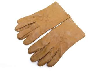 Goyard Camel Leather Gloves