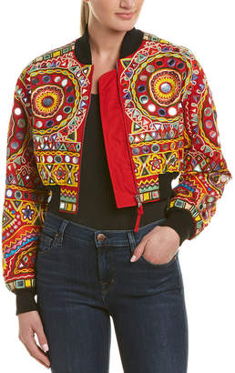 Moschino Embroidered Bomber Jacket