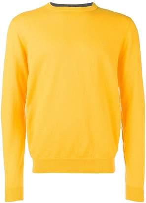 Sun 68 elbow patch sweater