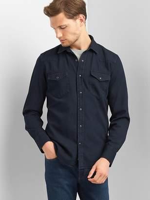 Gap Western denim slim fit shirt