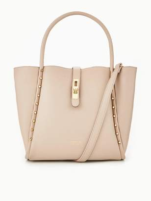 04a7d0dac44a at Very · Carvela Shar Studded Soft Tote Bag - Nude