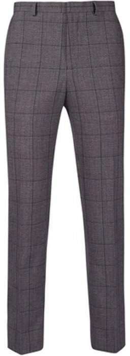 Womens **Burton Bold Grey Jaspe Check Slim Fit Trousers