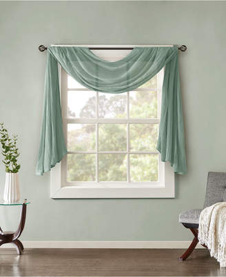 """Madison Home USA Harper 42"""" x 144"""" Solid Crushed Sheer Scarf Valance"""