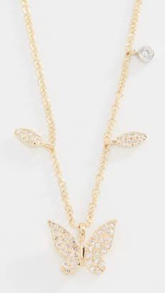 Meira T 14k Diamond Butterfly Necklace