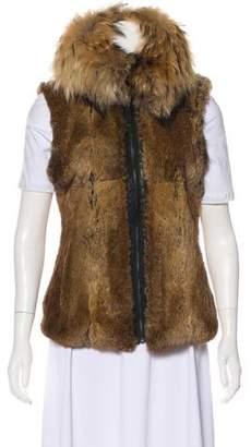 SAM. Fox Fur Zip-Up Vest