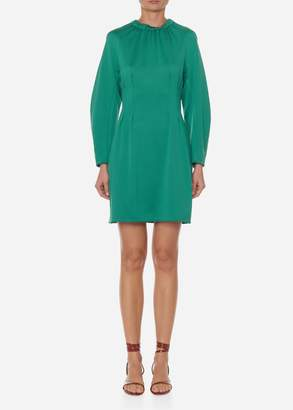 Tibi Astor Knit Short Corset Dress with Cut Out Back
