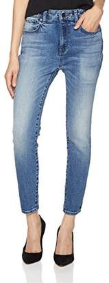 HALE Women's Drew Sculpted High Rise Skinny Crop Jean with Studs