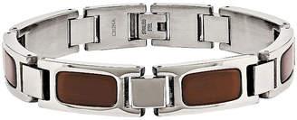 FINE JEWELRY Mens Tiger'S Eye Stainless Steel Chain Bracelet