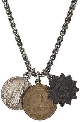 Miracle Icons Men's Vintage-Icon Necklace - Silver