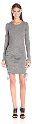 Pam & Gela Women's L/s Twisted Lace up Dress