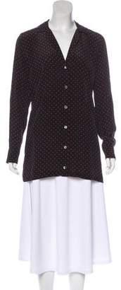 Kate Moss x Equipment Silk Button-Up Top