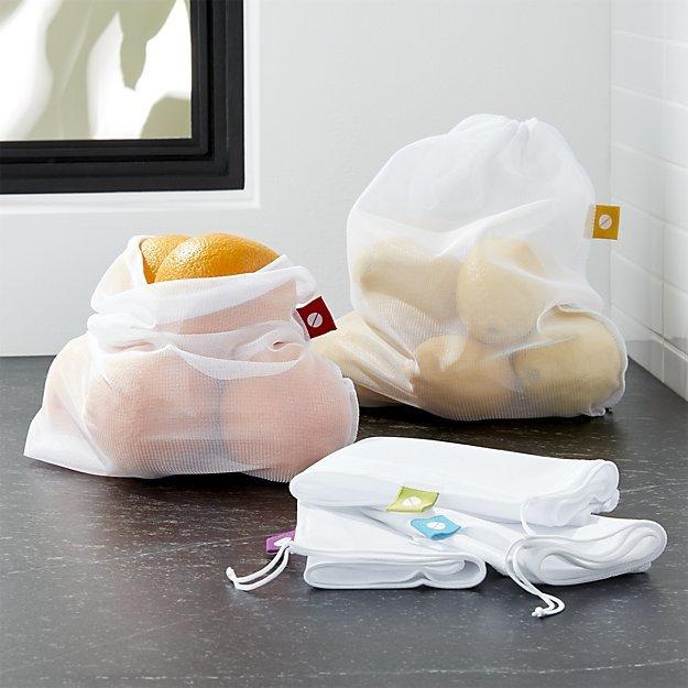 Crate & Barrel Set of 5 Produce Bags