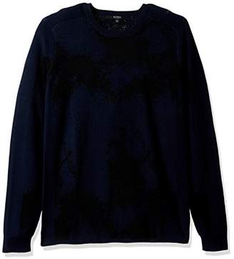 GUESS Men's Splatter Jacquard Pullover Sweater
