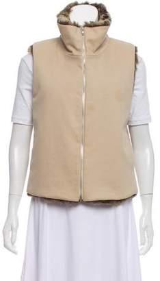 KORS Faux Fur Zip-Up Vest
