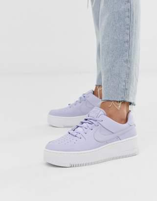 Nike Lilac Air Force 1 Sage Sneakers