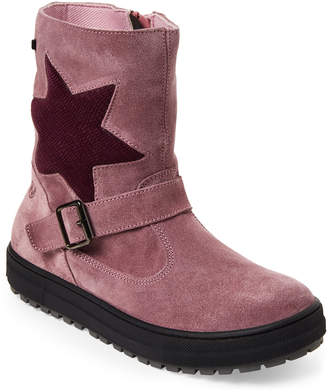 Naturino Kids Girls) Parana Rainstep Suede Star Boots