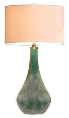 """JLA Home Cove Art Glass Table Lamp Blue 16"""" x 30"""" (Lamp Only)"""