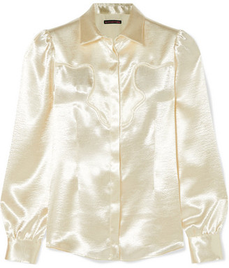 ALEXACHUNG Hammered-satin Shirt - Cream