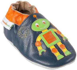 Momo Baby Boys Soft Sole Leather Baby Shoes - Robot