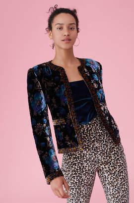 Rebecca Taylor Solstice Floral Velvet Jacket