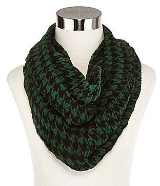 JCPenney Houndstooth Print Infinity Scarf