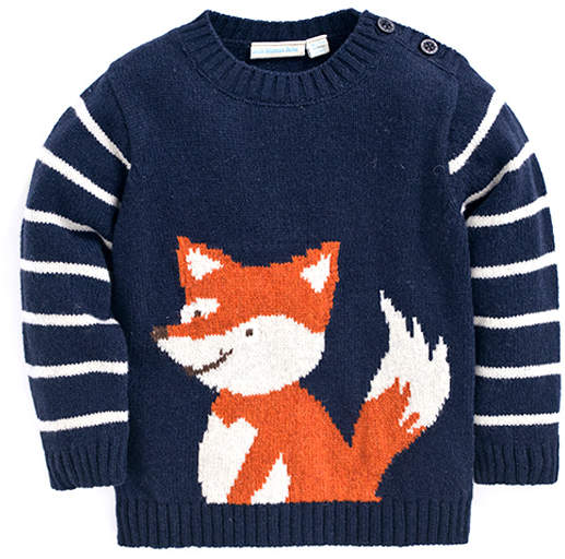 Navy Fox Jumper - Infant & Toddler
