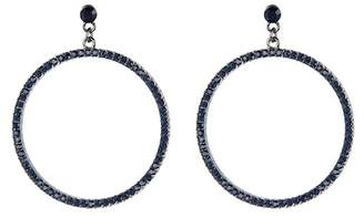 BaubleBar Pave Crystal Front Facing Hoop Drop Earrings