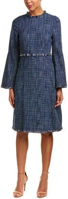 BCBGMAXAZRIA Bell-Sleeve A-Line Dress