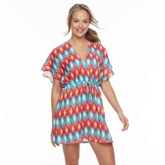 Porto Cruz Women's Portocruz Summer Ikat Surplice Cover-Up Dress