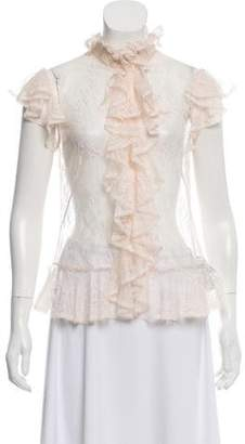 Alexander McQueen Silk Lace Top