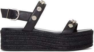 Versace Black Flatform Espadrille Sandals $725 thestylecure.com