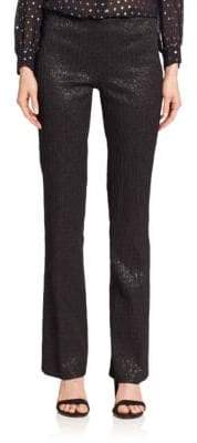 Michael Kors Metallic Stretch-Jacquard Pants