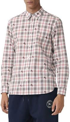 Burberry Men's Edward Signature Check Sport Shirt