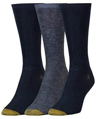 Gold Toe Women's Non-Binding Flat Knit Crew Socks