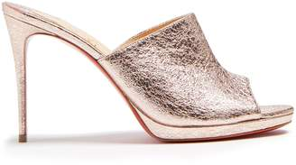 Christian Louboutin Pigamule 105 crinkled-effect leather mules