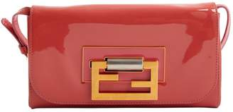 Fendi Baguette Pink Patent leather Clutch Bag