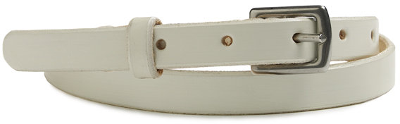 James Perse Narrow Leather Belt